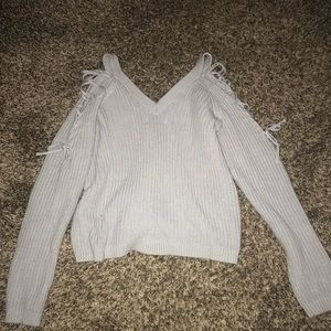 PacSun knit off the shoulder sweater